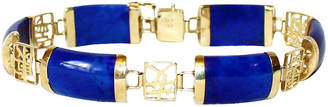One Kings Lane Vintage 14K Gold & Lapis Bracelet - Little Treasures