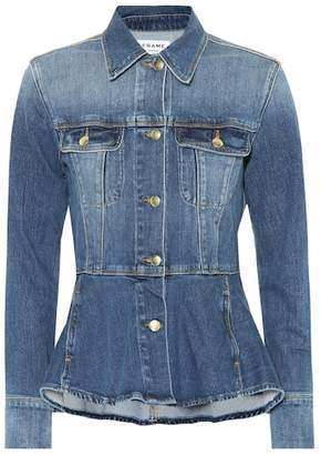 Frame Peplum denim jacket