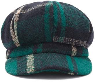 Forever 21 Brushed Plaid Cabby Hat