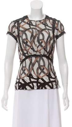 Yigal Azrouel Sik Abstract Printed Top