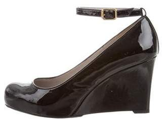 Marc by Marc Jacobs Patent Leather Round-Toe Wedges