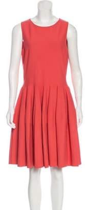 Alexander McQueen A-Line Knee-Length Dress Coral A-Line Knee-Length Dress