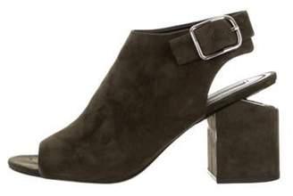 Alexander Wang Peep-Toe Block Heel Sandals Olive Peep-Toe Block Heel Sandals