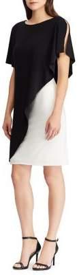 Lauren Ralph Lauren Two-Tone Overlay Jersey Dress