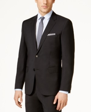 HUGO BOSS Hugo Men's Black Classic-Fit Jacket