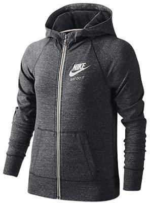 Nike Gym Vintage Full-Zip Hoodie, Big Girls (7-16) $50 thestylecure.com