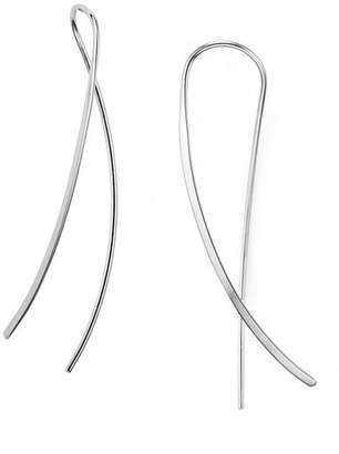 Bloomingdale's Sterling Silver Crossover Sweep Drop Earrings - 100% Exclusive
