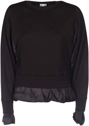Noir Kei Ninomiya Double-layered Ruffled Detail Sweater