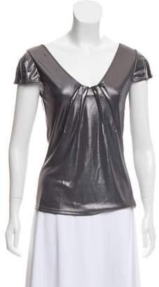 Christian Dior Metallic Cap Sleeve Top