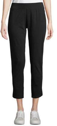 1f89e61dc6 Eileen Fisher Organic Cotton-Blend Stretch Jersey Cropped Pants w  Curved  Hem