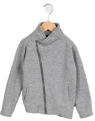Nununu Girls' Asymmetrical Zip-Up Sweatshirt