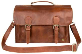 Mahi Leather Leather Messenger Satchel Bag In Vintage Brown