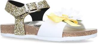 MonnaLisa Glitter Rose Sandals
