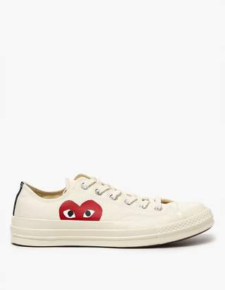 Comme des Garcons Play Converse Low in Beige