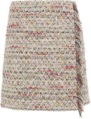ADAM by Adam Lippes Cotton Tweed Wrap Mini Skirt
