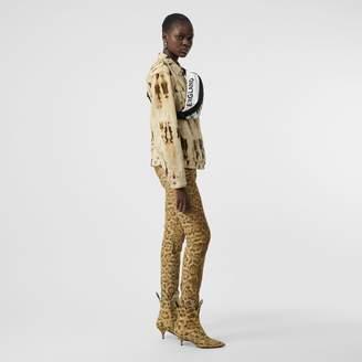 Burberry Straight Fit Leopard Print Japanese Denim Jeans