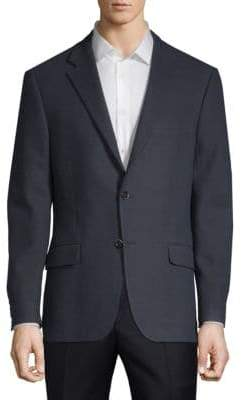 Hickey Freeman Single-Breasted Cotton Sports Jacket
