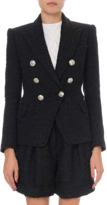 Balmain Classic Double-Breasted Tweed Jacket