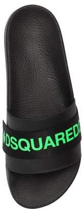 DSQUARED2 Web Logo Tape Slide Sandals