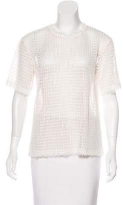 Alexander Wang Short Sleeve Lace Top w/ Tags