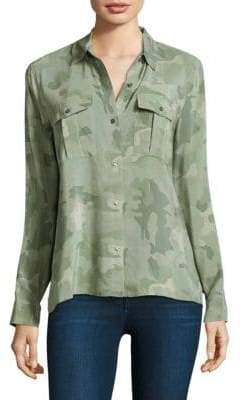 Rails Rhett Printed Silk Button-Down Shirt