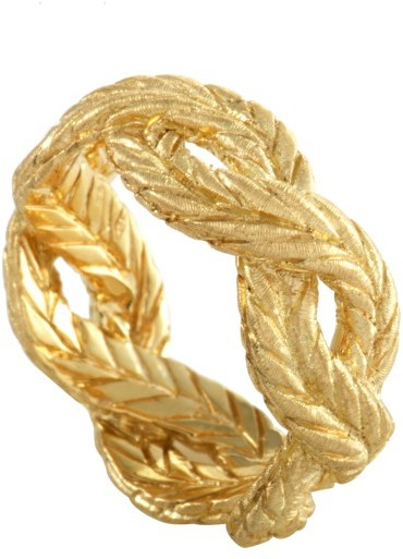 BuccellatiBuccellati 18K Yellow Gold Braided Band Ring Size 5.75