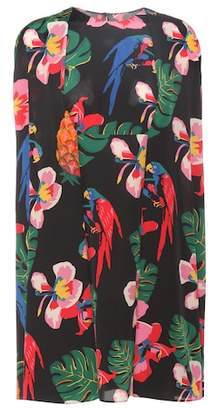 Valentino Printed sleeveless silk dress