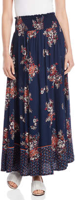 Angie Floral Smocked Waist Maxi Skirt