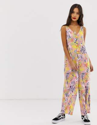 a75948be5944 Noisy May abstract print wide leg jumpsuit
