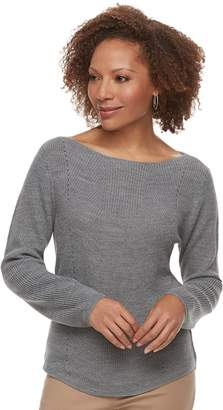 Croft & Barrow Petite Transfer Stitch Sweater