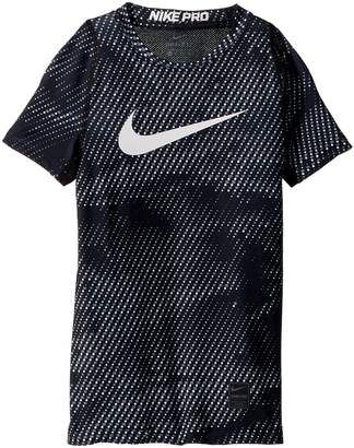 Nike Pro Short Sleeve Fitted Top Aop Boy's Clothing