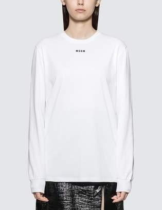 MSGM Small Logo Long Sleeve T-shirt