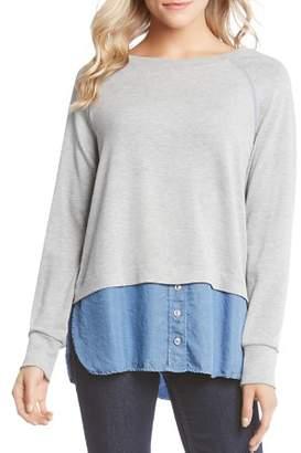 Karen Kane Layered Look Sweatshirt