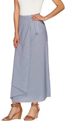 G.I.L.I. Got It Love It G.I.L.I. Regular Striped Wrap Front Maxi Skirt