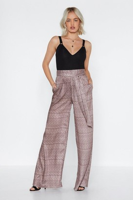 Nasty Gal Don't Tail Anyone Leopard Pants