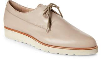 Fabiana Filippi Leather Pointed Toe Wedge Oxfords