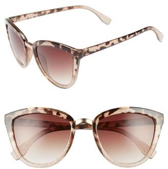 Leith 54mm Sparkle Cat Eye Sunglasses