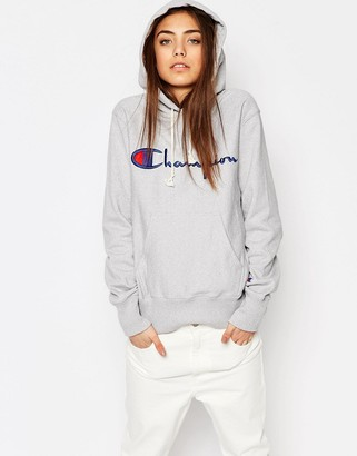 Champion Classic Oversized Pull Over Hoodie In Reverse Weave $116 thestylecure.com