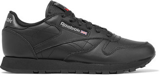 Reebok - Classic Leather Sneakers - Black $70 thestylecure.com