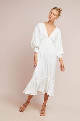 MISA Moritz Open-Shoulder Maxi Dress