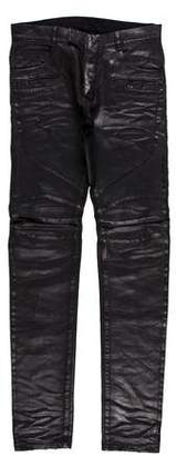Balmain Coated Slim Fit Jeans w/ Tags