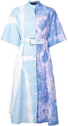 Proenza Schouler Tie Dye Shirt Dress