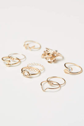 H&M 9-pack Rings - Gold-colored - Women