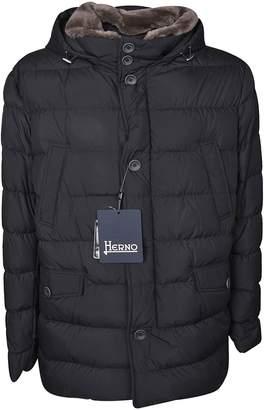 Herno Fur Detailed Hood Padded Jacket
