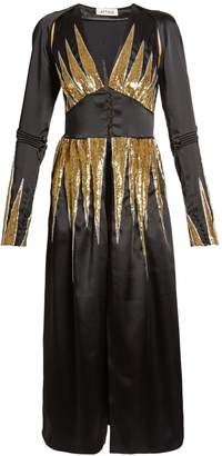 ATTICO Suzanne sequin-embellished satin dress