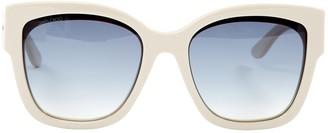 Jimmy Choo White Plastic Sunglasses