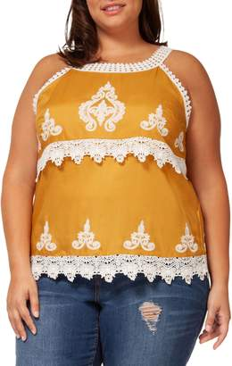 Dex Plus Ornate Crochet Tank