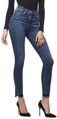 Good American Good Waist Side Slit Jeans - Blue220