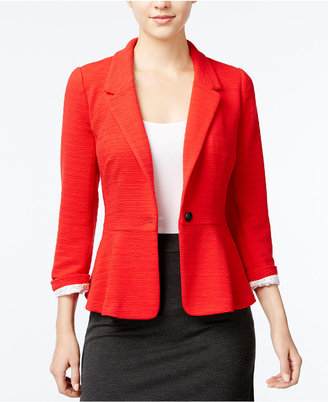 kensie Ribbed One-Button Blazer $89 thestylecure.com