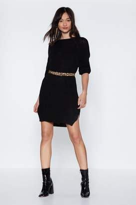 Nasty Gal We Get on Sweater Knit Dress